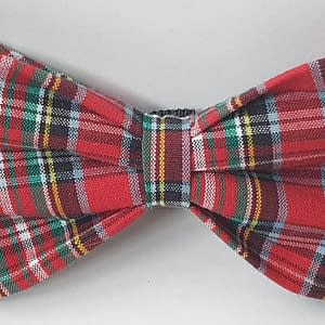 Red Tarten Dog Bow Tie